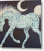 Dance Of The Moon Horse Metal Print