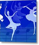 Dance The Blues Away Metal Print