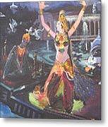 Dancer Laxmi Dancing On The Boat Metal Print