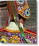 Dancer In Native Costume Peru Metal Print