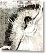Dancer With A Bouquest Of Flowers By Edgard Degas Metal Print