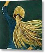 Dancer With Hair Metal Print