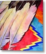 Dancer's Feathers Metal Print