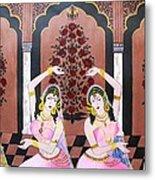 Dancers In Mughal Court Metal Print