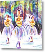 Dancers In The Forest II Metal Print