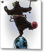 Dancing Bear Metal Print by Chris Van Es