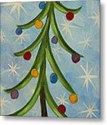 Dancing Christmas Tree Metal Print