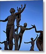 Dancing Figures Metal Print by Brian Jannsen