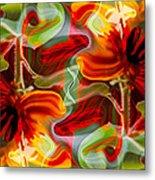 Dancing Flowers Metal Print by Omaste Witkowski