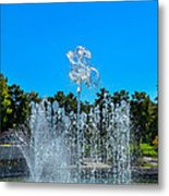 Dancing Fountain Metal Print