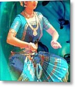 Dancing Girl With Gold Necklace Metal Print