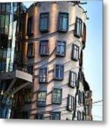Dancing House In Prague Metal Print