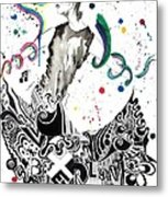 Dancing In Berlin Metal Print by Oddball Art Co by Lizzy Love