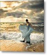 Dancing In The Surf Metal Print