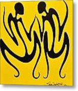 Dancing In Yellow Metal Print