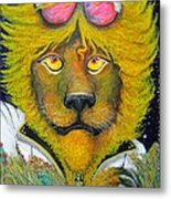 Dancing King Of The Serengeti Discotheque Metal Print