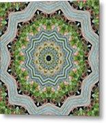 Dancing Mandevilla Blossom Kaleidoscope Metal Print