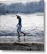Dancing On The Beach Metal Print