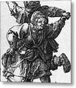 Dancing Peasants 1514 - Albrecht Durer Metal Print