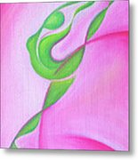 Dancing Sprite In Pink And Green Metal Print