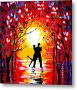 Dancing Sunset Original Painting Metal Print