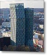 Dancing Towers Hamburg Metal Print