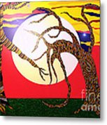 Dancing Trees Metal Print by Lewanda Laboy