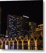 Dancing Waters Rear Shot Metal Print