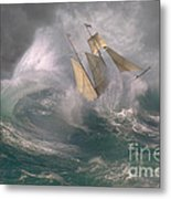 Danger At Sea Metal Print