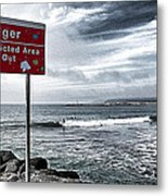 Danger Restricted Area Keep Out Metal Print