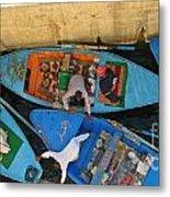 Dangerous Manouvers At The Nile River Canal Locks Metal Print