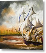 Dangerous Tides Metal Print by Corporate Art Task Force