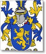 Daniel Coat Of Arms Irish Metal Print