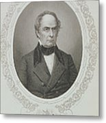 Daniel Webster, From The History Of The United States, Vol. II, By Charles Mackay, Engraved By T Metal Print
