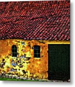 Danish Barn Impasto Version Metal Print by Steve Harrington