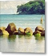 Danish Coast On The Rocks Metal Print