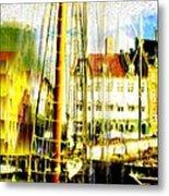 Danish Harbor Metal Print