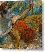 Danseuse A L'eventail Metal Print by Edgar Degas