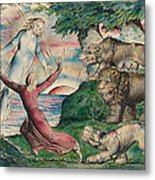 Dante Running From The Three Beasts Metal Print
