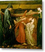 Dantes Dream At The Time Of The Death Of Beatrice 1856 Metal Print