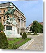 Danube Terrace At Buda Castle In Budapest Metal Print