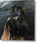 Dappled Horse In Stormy Light Metal Print