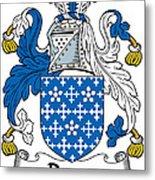 Darcy Coat Of Arms II Irish Metal Print