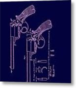 Dark Beaumont Revolver Patent Metal Print