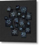 Snowflake Collage - Dark Crystals 2012-2014 Metal Print