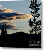 Dark Meets Light Metal Print