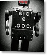 Dark Metal Robot Oil Metal Print