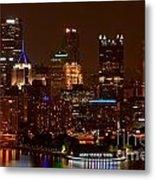 Dark Pittsburgh Skyline Metal Print