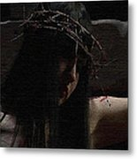 Dark Portrait Of A Female Jesus Metal Print