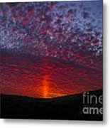 Dark Red Sunset Metal Print